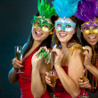 Group of women partying — Foto Stock