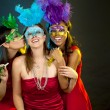 Group of women partying — Foto de Stock