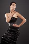Akşam elbiseli kadın — Stok fotoğraf