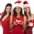 Stock Photo: Group of christmas women
