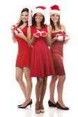 Group of christmas women — Stock Photo