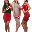 Group of christmas women — Foto de Stock