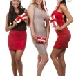 Group of christmas women — Foto Stock
