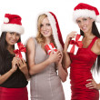 Group of christmas women — Stock Photo