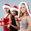 Group of christmas women — Stock Photo #33968803