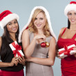 Group of christmas women — Stock Photo #33968963