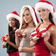 Group of christmas women — Stock Photo #33968995