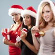 Group of christmas women — Stock Photo #33969087