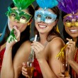 Foto Stock: Group of women partying