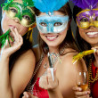 Group of women partying — Stock fotografie
