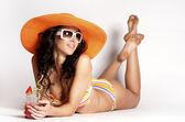 Summer beach woman — Stock Photo