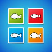 Vector fish stickers — Wektor stockowy