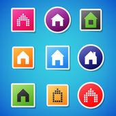 Wektor domu ikony — Wektor stockowy