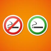 Vector smoking stickers — Stock Vector