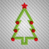Vecto Christmas tree — Stockvektor