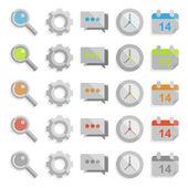 Clean web icon set — Stockvektor
