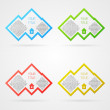 Vector infographics template — Stockvectorbeeld