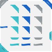 Vector ribbon set — Stock Vector