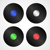 Vector vinyl discs — Stock Vector