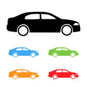 Set of cars silhouettes — Stock Vector