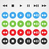 Vector navigation buttons — Stockvektor