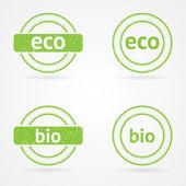 Vector green stamps — Stock Vector