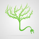 Vector tree plug — Stock Vector