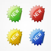 Vector new stickers — Stock Vector