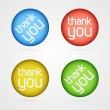 Vector thank you icons — Stock Vector