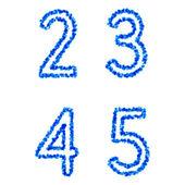 Vector bubble alphabet — Stock Vector