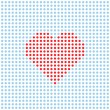 Vector dotted heart — Stock Vector