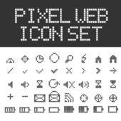 Wektor piksel web ikony zestaw — Wektor stockowy