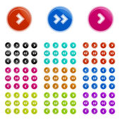 Set of clean color vector arrows icons — Stock Vector