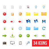 Set of clean vector web icons — Stock Vector