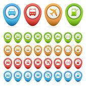 Set of transport pointers — Wektor stockowy