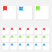 Set of clean vector numbered web elements — Vector de stock