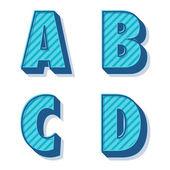 矢量复古字母表 — 图库矢量图片