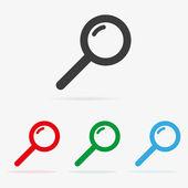 Vector zoekopdracht pictogrammen — Stockvector