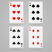 Vector six cards — Stock Vector