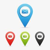 Vector envelope pointers — Stock Vector