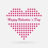 Vector Valentine heart — Stock Vector