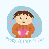 Vector Valentine card — Stock Vector