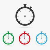 Vector stopwatch icons — Stock Vector