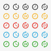 Vector time icons — Stock Vector