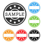 Set of clean color retro stamps — Stock Vector