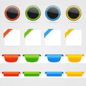 Set of color web decorative elements — Stock Vector