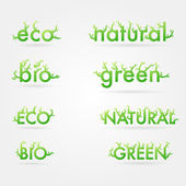 Set of ecology logo titles — Stock Vector