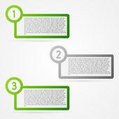 Green infographic elements set — Stock Vector