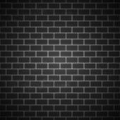 Black and white grunge brick background — Stock Vector
