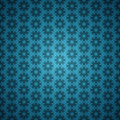 Blue abstract ornament seamless background — Stock Vector